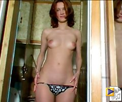 Tall puss with gorgeous body takes a leak on cam