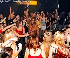 Amateur Chicks Put Out and Get Naked at Interracial CFNM Stripper Party